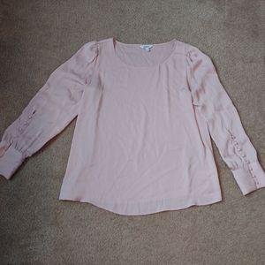 Large express pale pink blouse